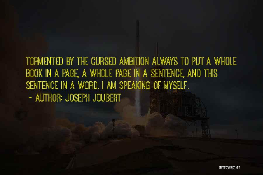 Writing And Speaking Quotes By Joseph Joubert