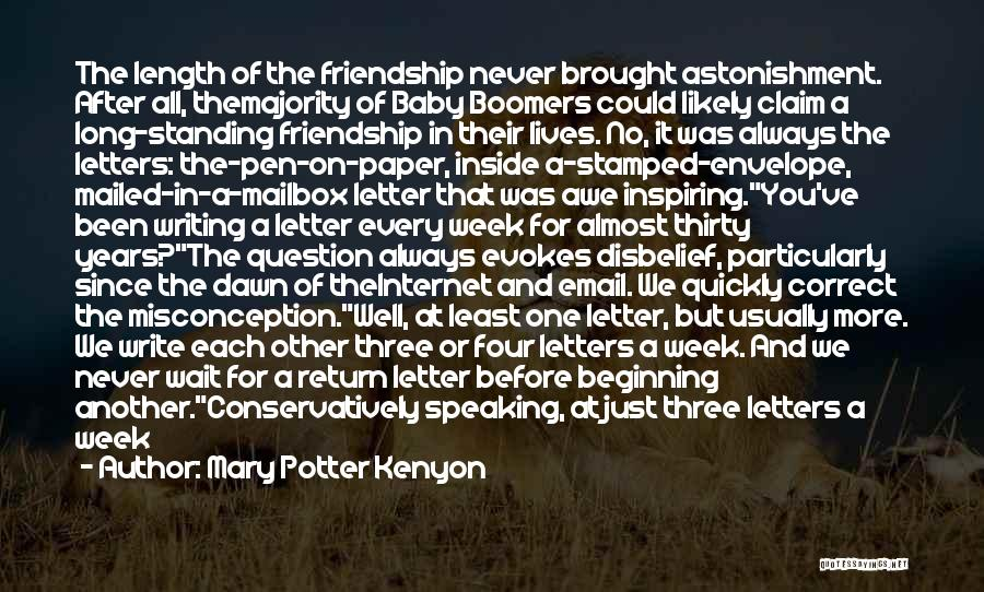 Writing And Speaking Quotes By Mary Potter Kenyon