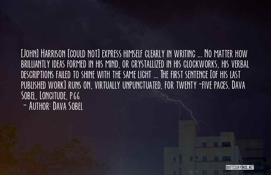 Writing Clearly Quotes By Dava Sobel