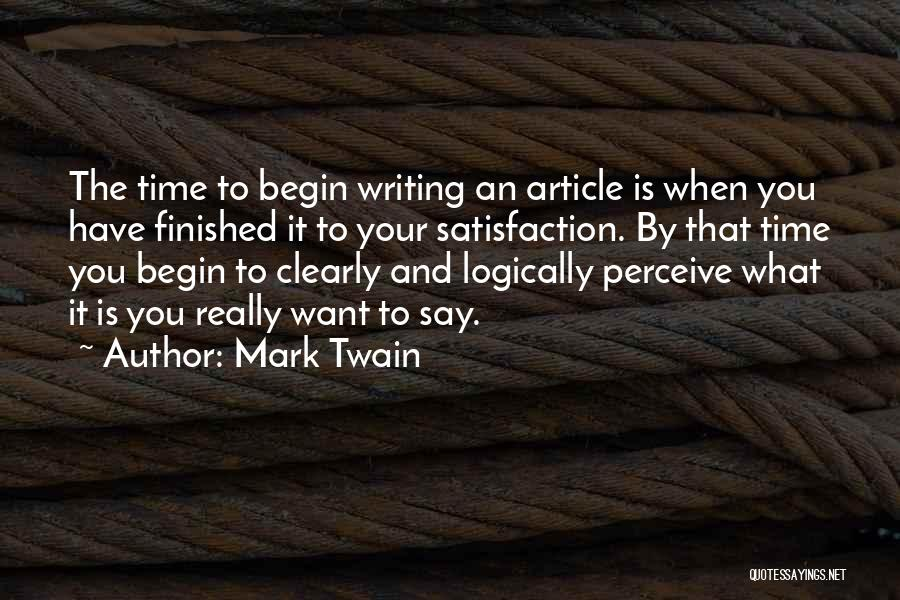 Writing Clearly Quotes By Mark Twain