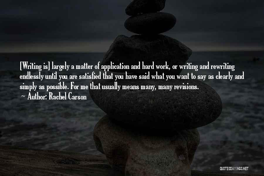 Writing Clearly Quotes By Rachel Carson