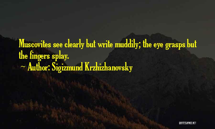 Writing Clearly Quotes By Sigizmund Krzhizhanovsky