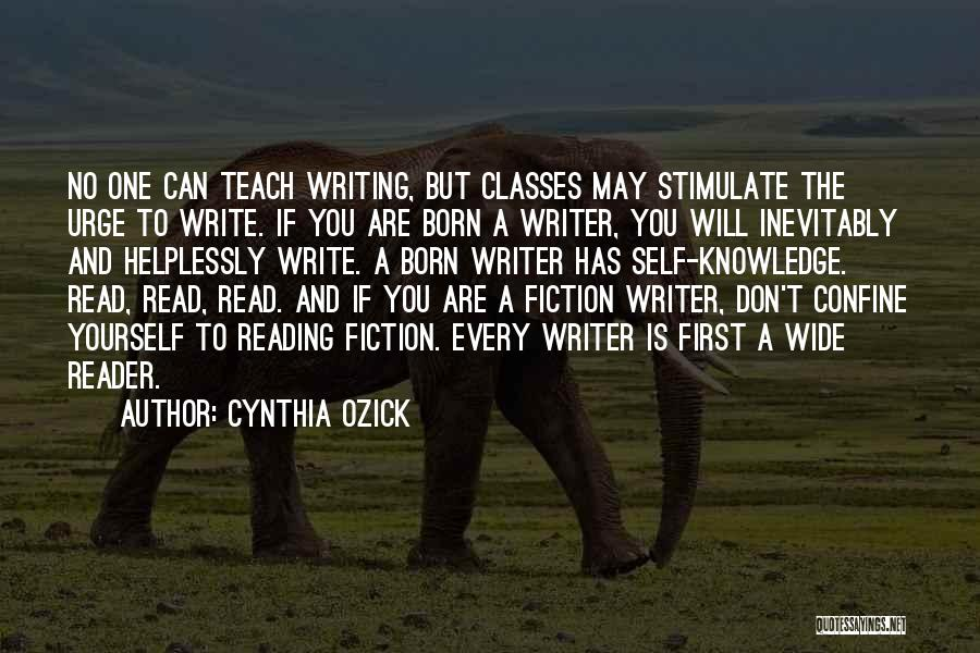 Writing Fiction Quotes By Cynthia Ozick