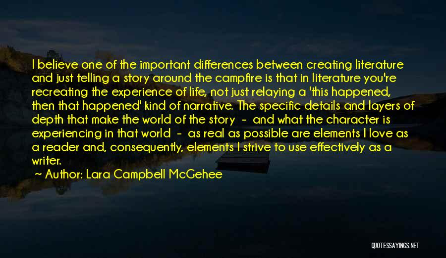 Writing Fiction Quotes By Lara Campbell McGehee