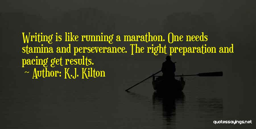 Writing Is Like Quotes By K.J. Kilton