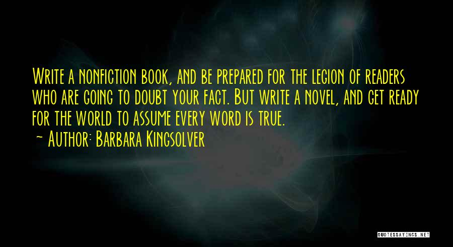 Writing Nonfiction Quotes By Barbara Kingsolver