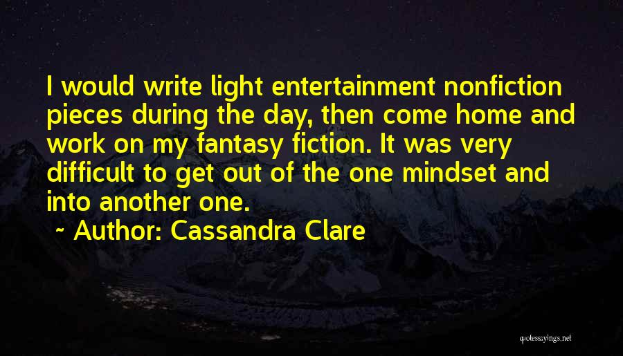 Writing Nonfiction Quotes By Cassandra Clare