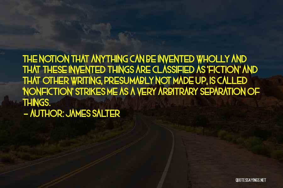 Writing Nonfiction Quotes By James Salter