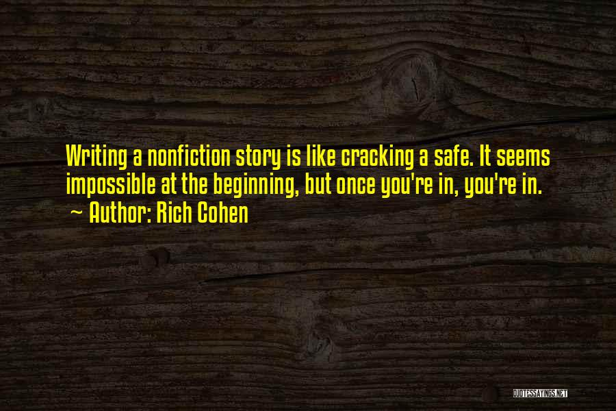 Writing Nonfiction Quotes By Rich Cohen