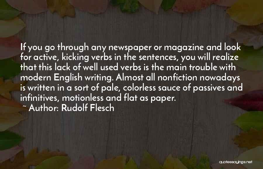 Writing Nonfiction Quotes By Rudolf Flesch