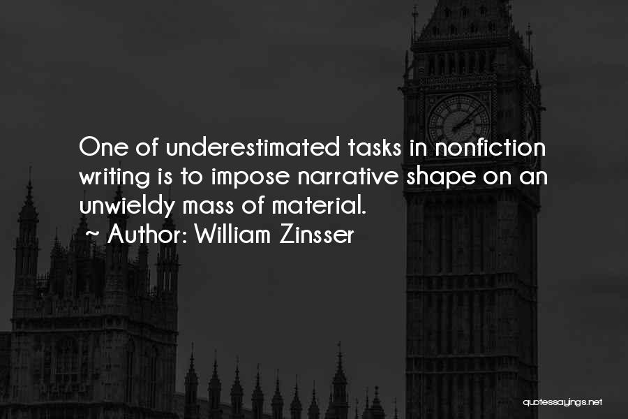Writing Nonfiction Quotes By William Zinsser