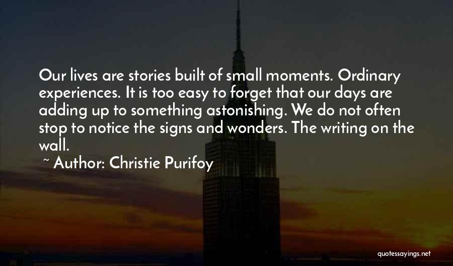 Writing On Wall Quotes By Christie Purifoy