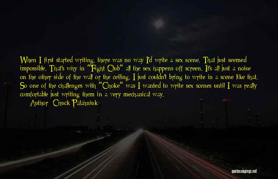 Writing On Wall Quotes By Chuck Palahniuk