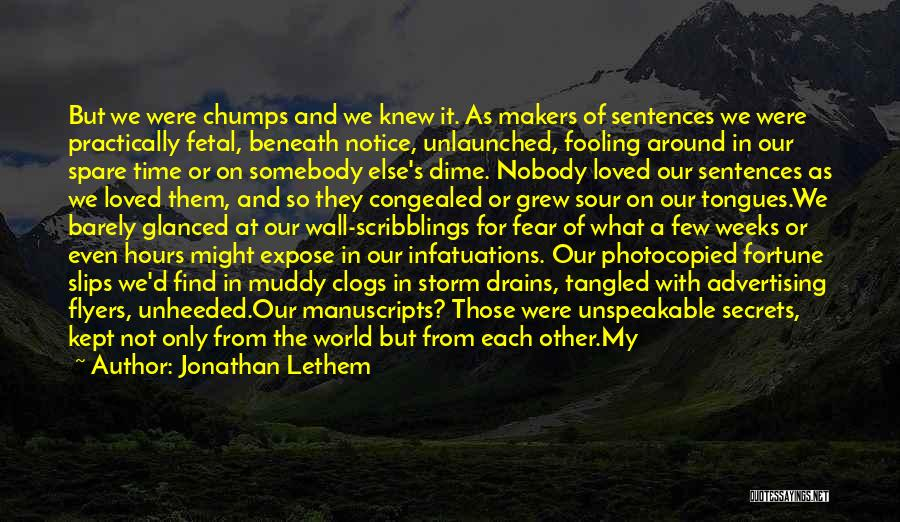 Writing On Wall Quotes By Jonathan Lethem