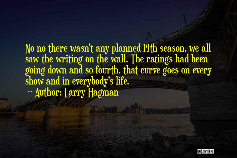 Writing On Wall Quotes By Larry Hagman