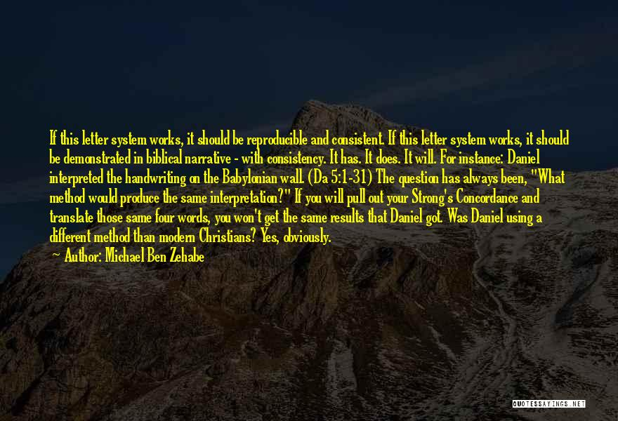 Writing On Wall Quotes By Michael Ben Zehabe