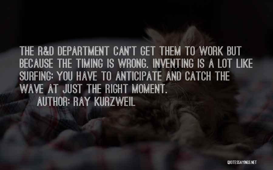Wrong Timing Quotes By Ray Kurzweil