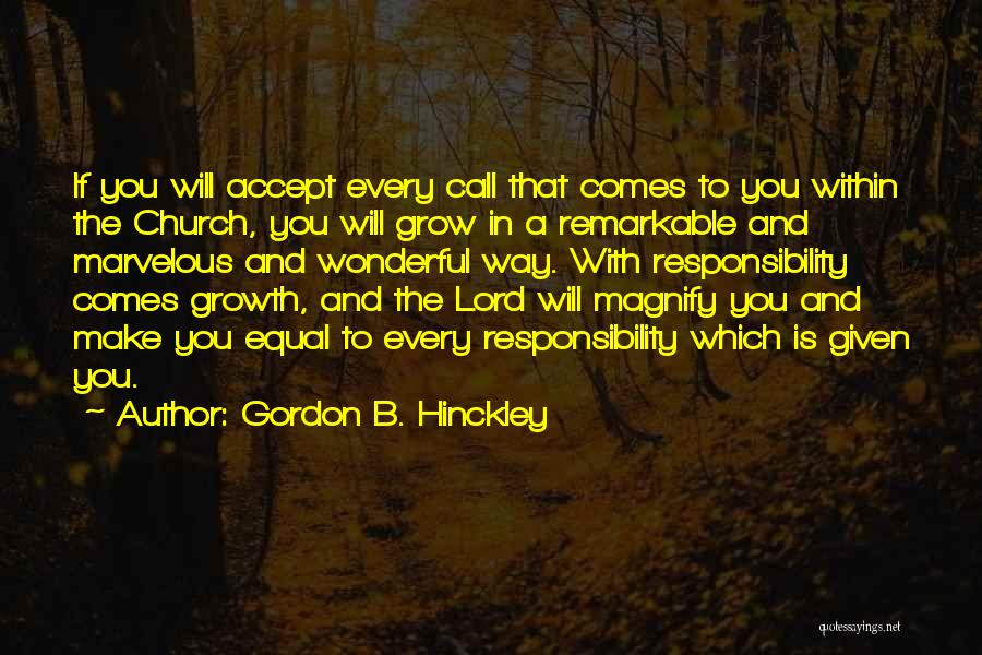 Xenophon Dressage Quotes By Gordon B. Hinckley