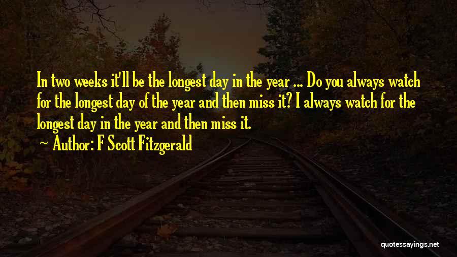 Y I Miss U Quotes By F Scott Fitzgerald