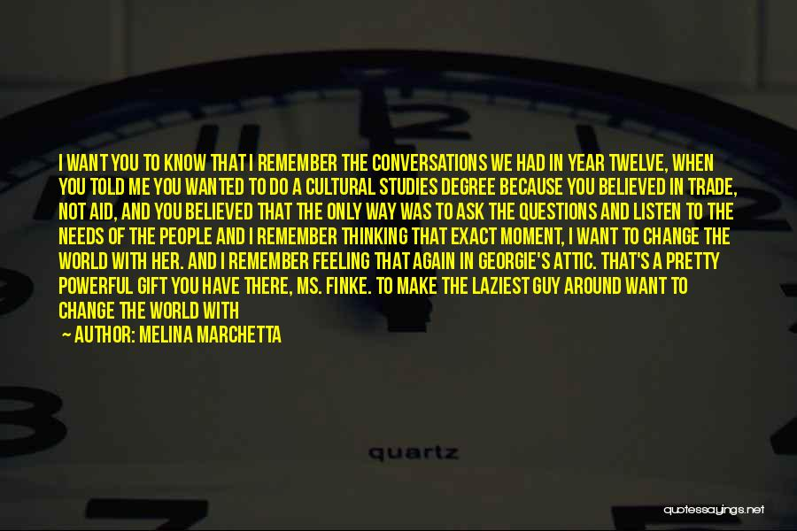 Year Twelve Quotes By Melina Marchetta