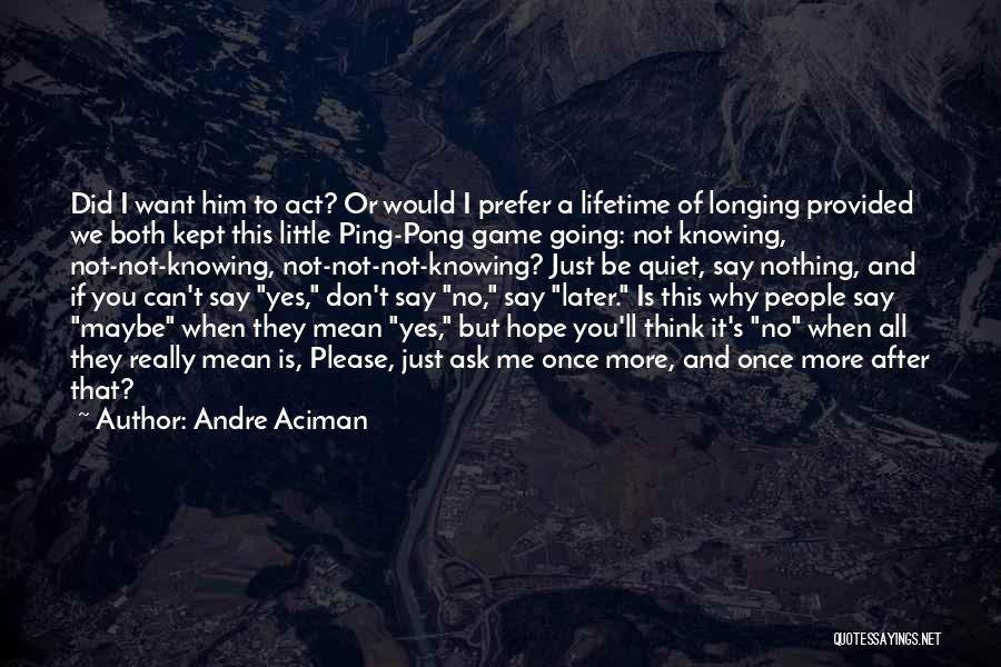 Yes No Maybe Quotes By Andre Aciman