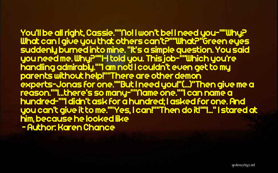 Yes No Maybe Quotes By Karen Chance