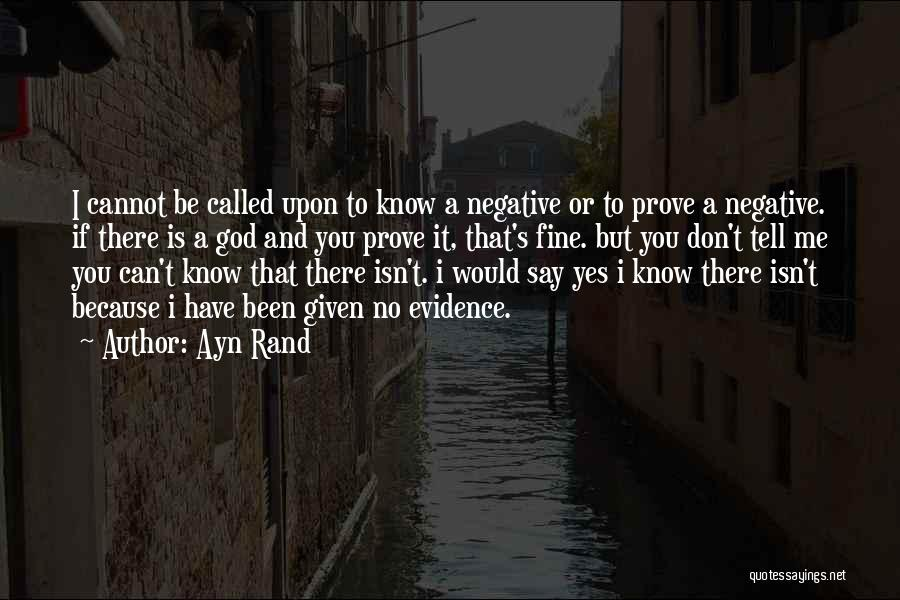 Yes Or No Quotes By Ayn Rand