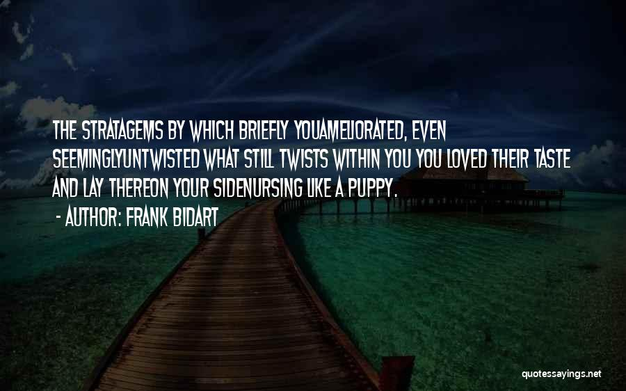 You And Your Puppy Quotes By Frank Bidart