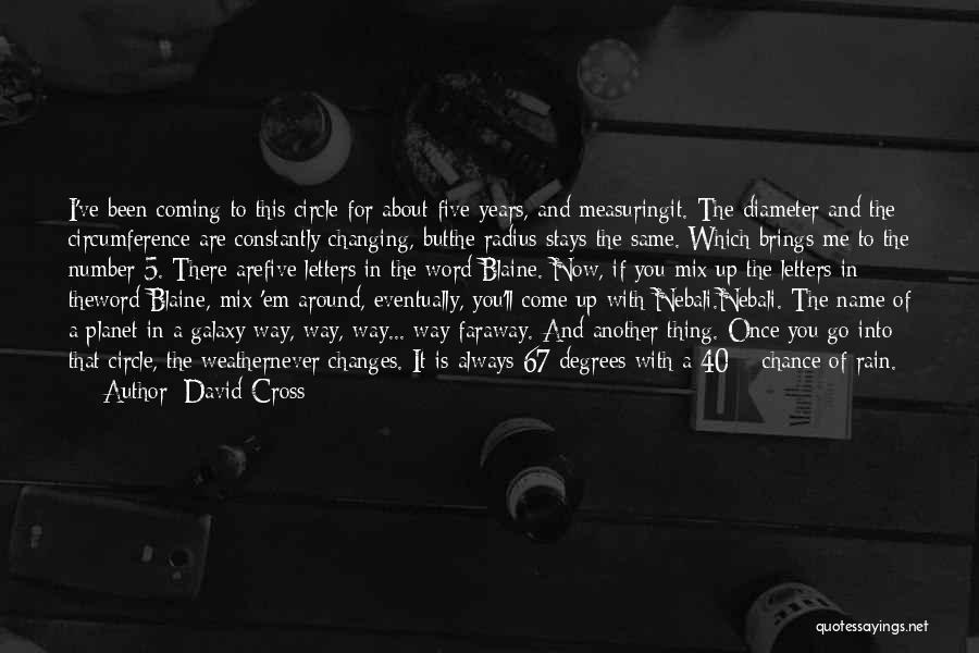 You Are A Circle Quotes By David Cross