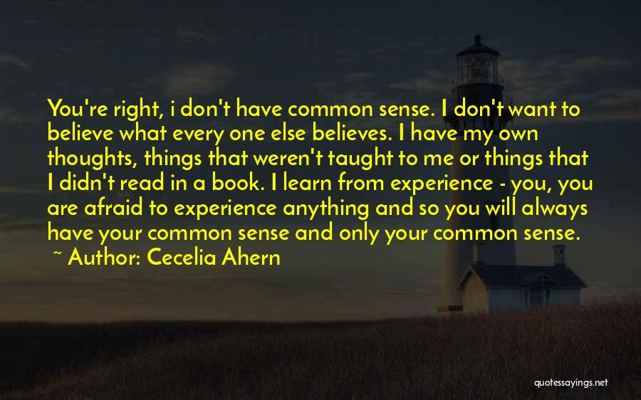 You Are Always In My Thoughts Quotes By Cecelia Ahern