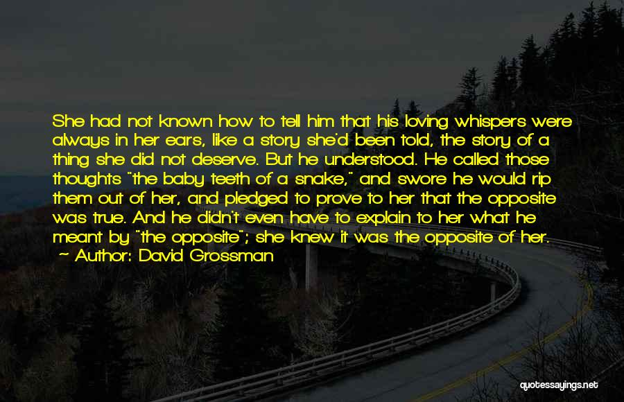 You Are Always In My Thoughts Quotes By David Grossman