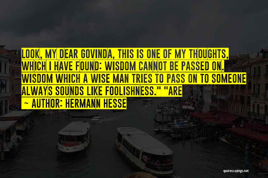 You Are Always In My Thoughts Quotes By Hermann Hesse