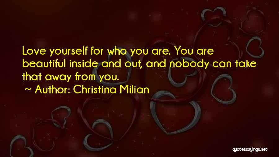 You Are Beautiful Inside Quotes By Christina Milian
