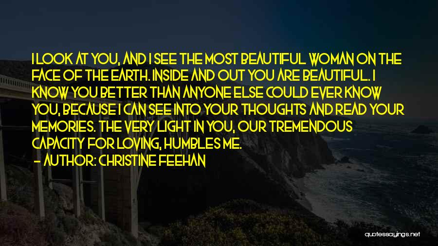 You Are Beautiful Inside Quotes By Christine Feehan