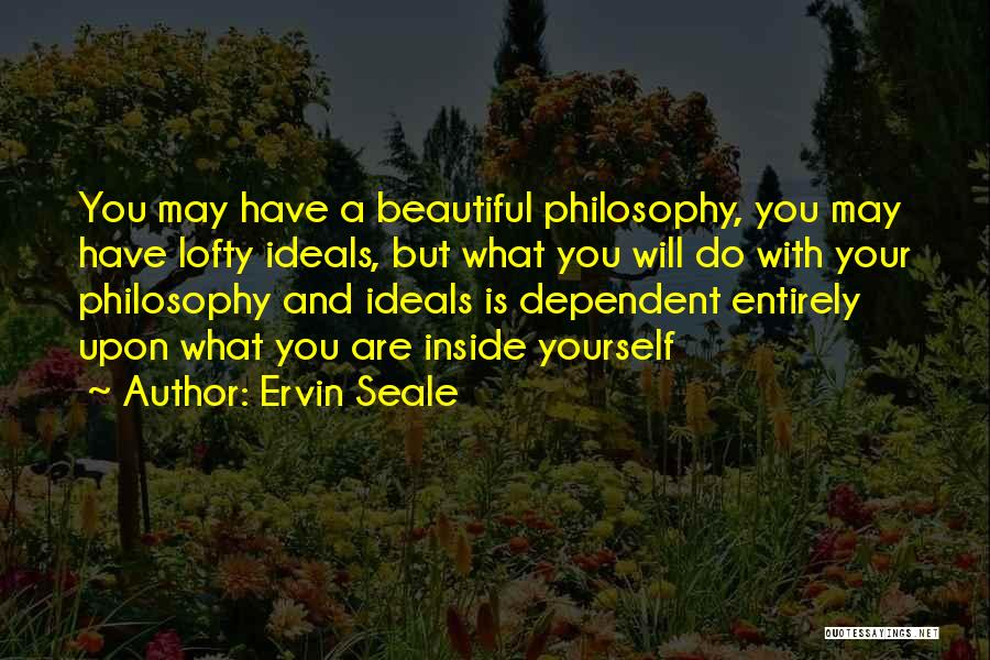 You Are Beautiful Inside Quotes By Ervin Seale