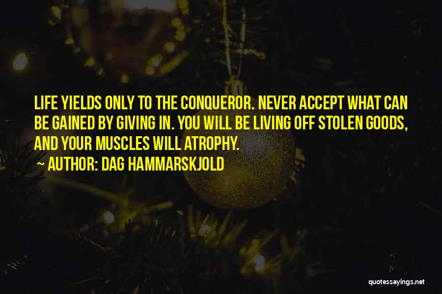 You Are More Than A Conqueror Quotes By Dag Hammarskjold