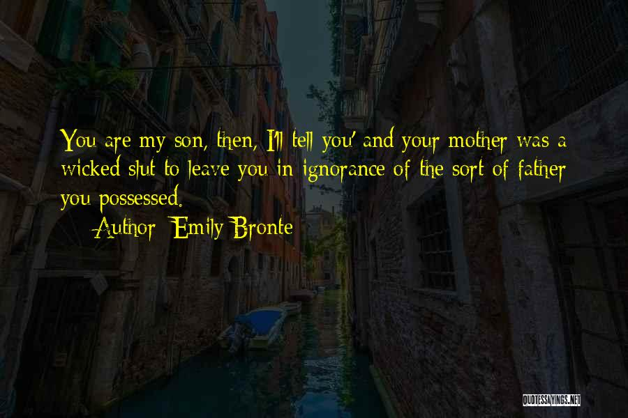 You Are My Mother Quotes By Emily Bronte