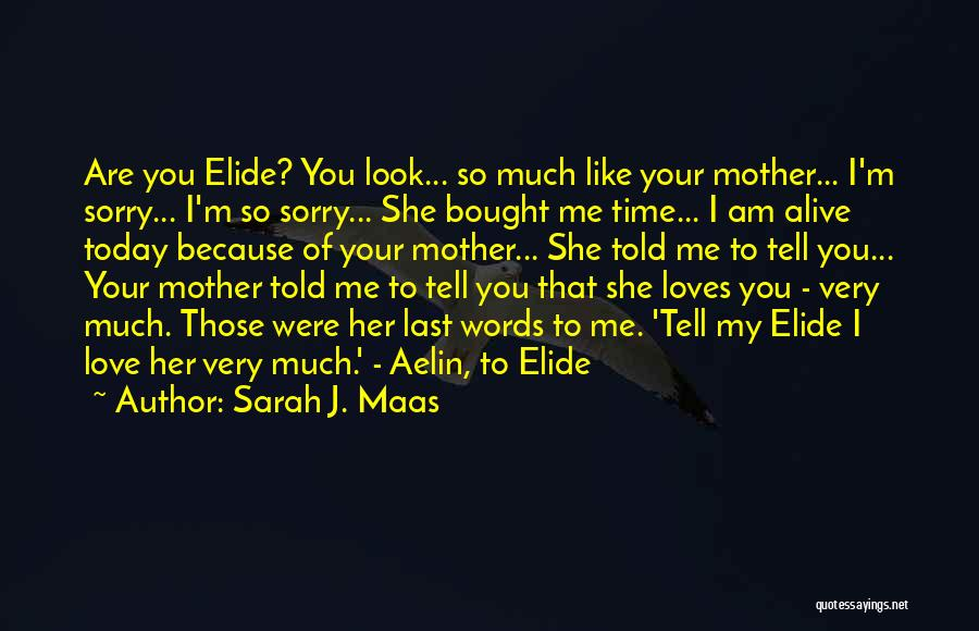You Are My Mother Quotes By Sarah J. Maas