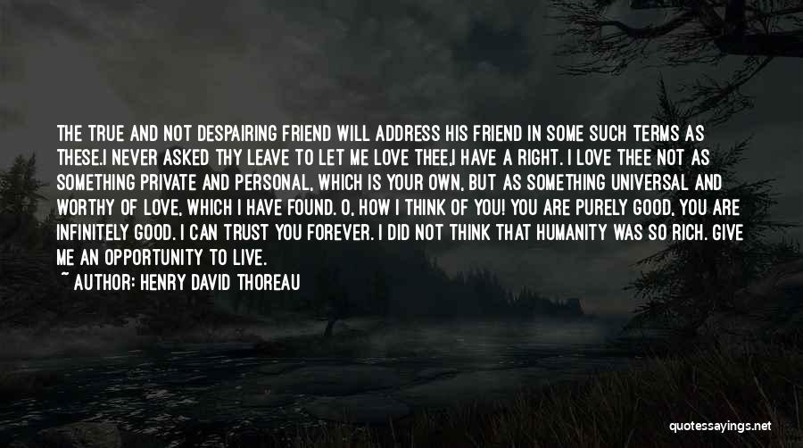 You Are Not A Good Friend Quotes By Henry David Thoreau