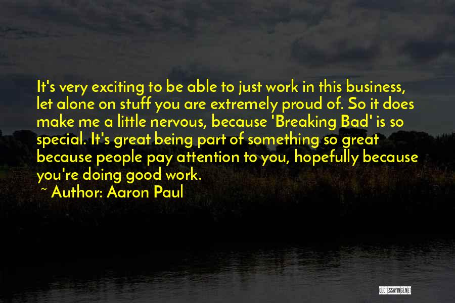 You Are Something Special Quotes By Aaron Paul