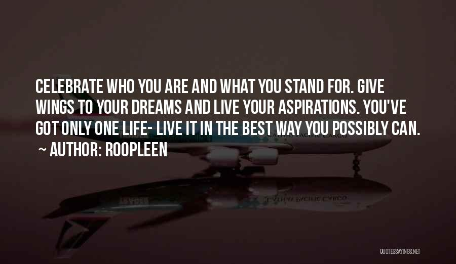You Are The Best One Quotes By Roopleen