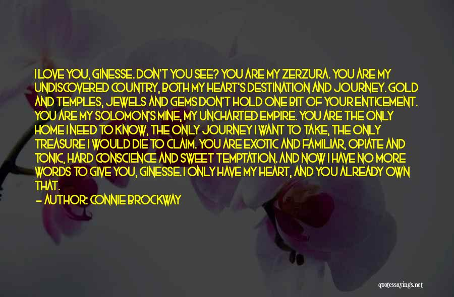 You Are The Only Love Quotes By Connie Brockway