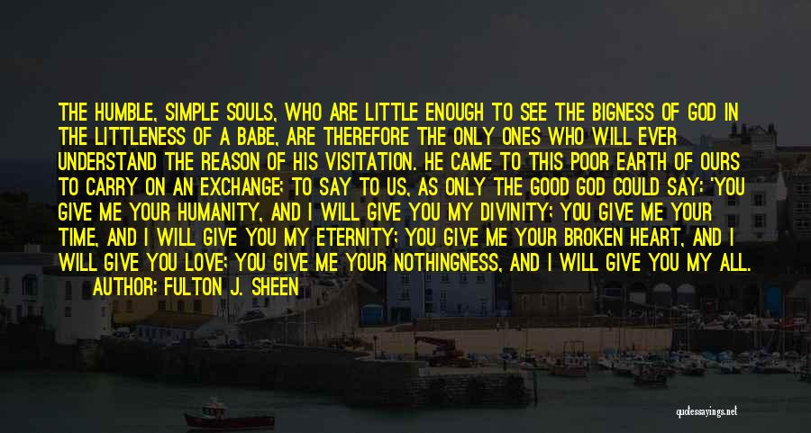You Are The Only Love Quotes By Fulton J. Sheen