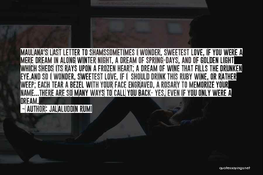 You Are The Only Love Quotes By Jalaluddin Rumi