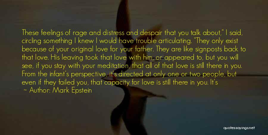 You Are The Only Love Quotes By Mark Epstein