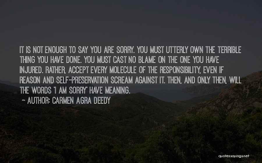 You Are The Only One To Blame Quotes By Carmen Agra Deedy