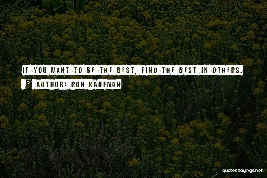 You Being The Best Quotes By Ron Kaufman