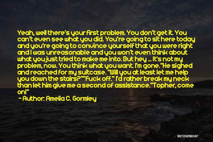 You Break Me Down Quotes By Amelia C. Gormley
