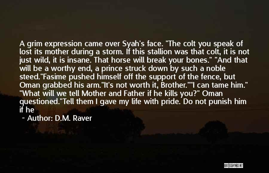 You Break Me Down Quotes By D.M. Raver