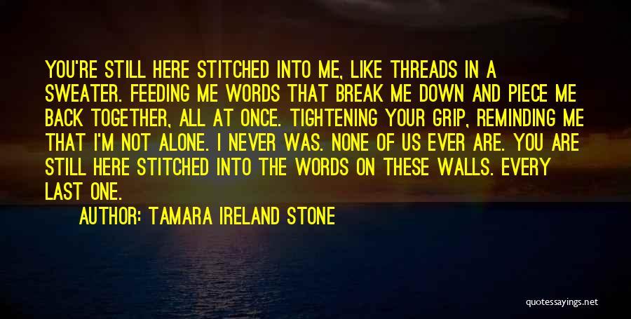 You Break Me Down Quotes By Tamara Ireland Stone